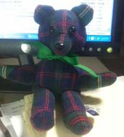 handmade plaid memory bear