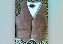 shearling vest for memory bear