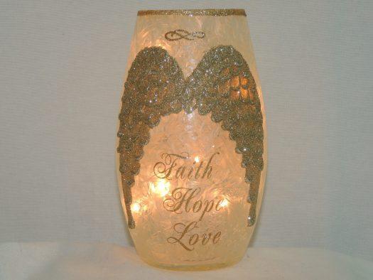 angel wings crackled glass vase lamp