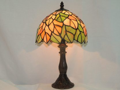 autumn stained glass table lamp