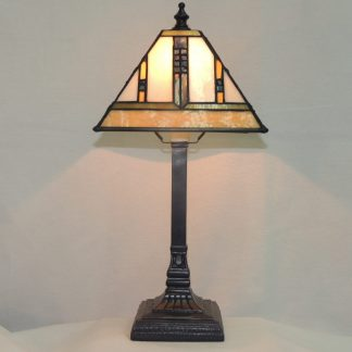 blue arrow mission table lamp