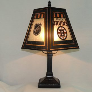 boston bruins art glass lamp