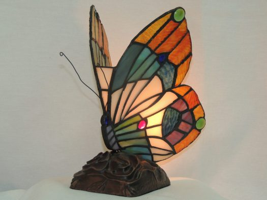 butterfly stained glass accent lamp