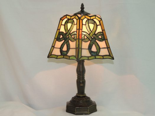 celtic pleated tiffany style lamp