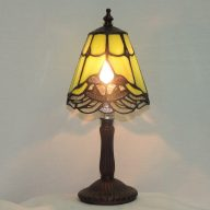 green stained glass accent lamp