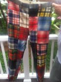 pants used for plaid memory bears