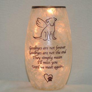 dog memorial lamp
