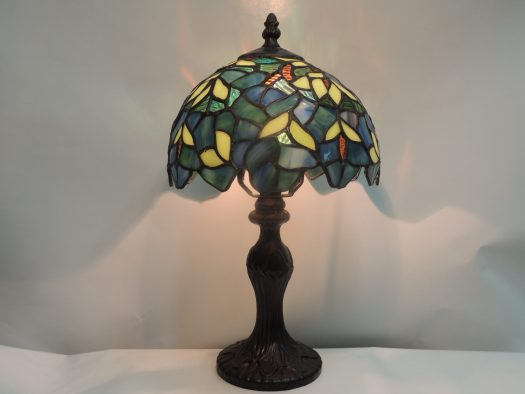 nightfall wisteria stained glass lamp
