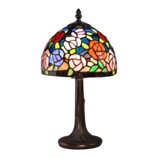 carnation stained glass lamp