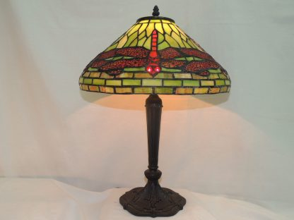 dragonfly red and green memory lamp