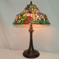 butterfly floral tiffany style memory lamp