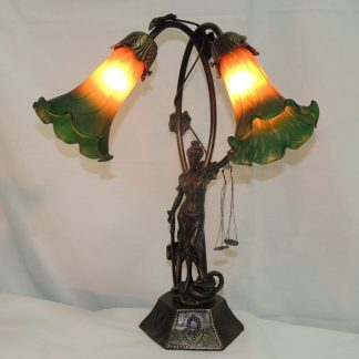 lady of justice lily accent lamp