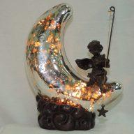 silver moon cherub memory lamp