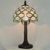 sea glass light blue accent memory lamp