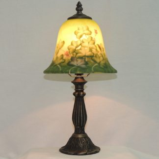 reverse painted shamrock accent lamp.
