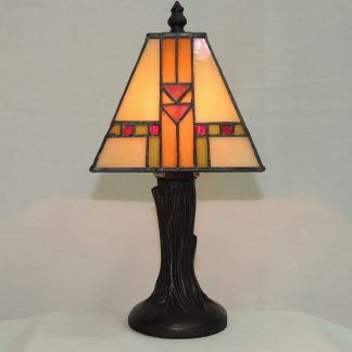 southwest stained glass mini mission accent lamp
