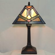 southwestern mission stained glass table lamp