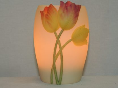 bonded marble hand painted memory lamp.
