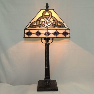 trinity knot table lamp