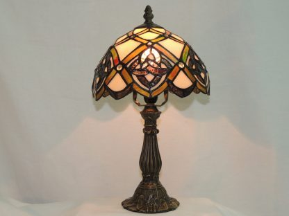 trinity life celtic stained glass lamp.
