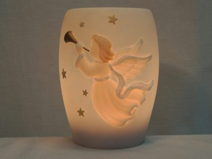 trumpeting angel with stars night lamp