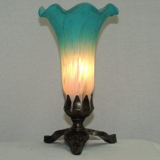 lily blown glass memory lamp