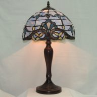 blue opal scallop table lamp