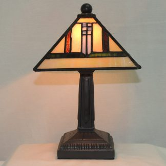 southwest mini mission stained glass lamp