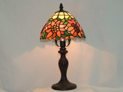 bright sunflowers stained glass lamp