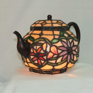 teapot lamp tiffany style