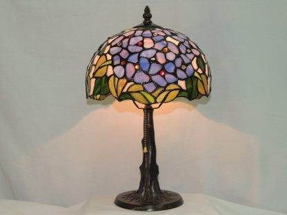 floral stained glass memory lamp