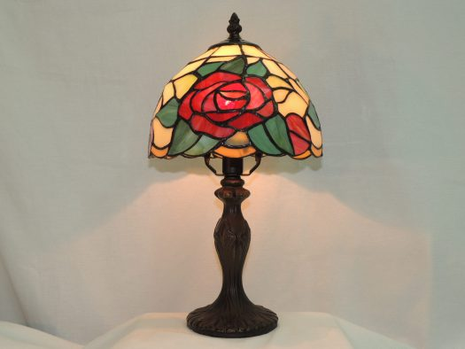 indian rose memorial stained glass lamp