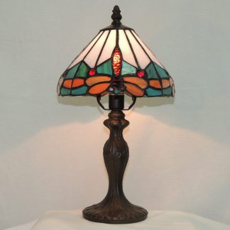 dragonfly accent bereavement lamp, tiffany style dragonfly lamp