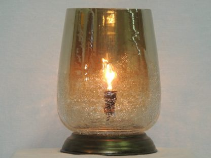 hand blown smoke luster memory lamp