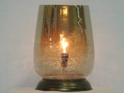 hand blown smoke luster memory lamp