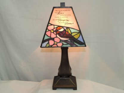 heaven stained glass memorial lamp