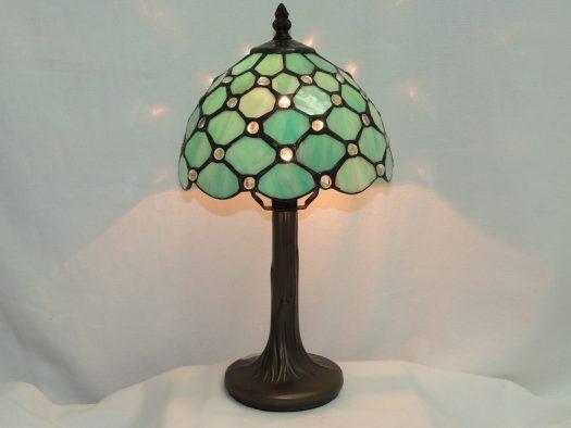 sea glass light blue accent memory lamp