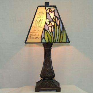 light remains stained glass memorial lamp