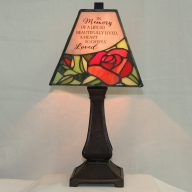 so deeply loved stained glass memorial lamp