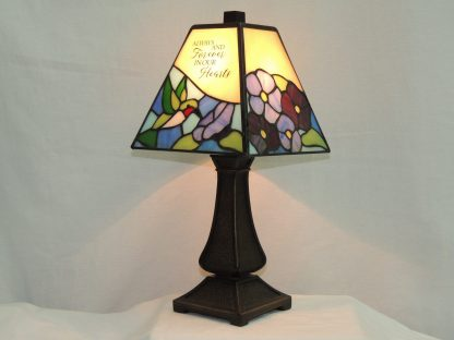 our hearts memorial lamp
