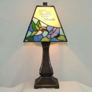 our hearts tiffany style bereavement lamp