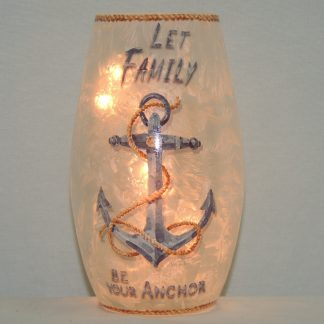 hand painted lit family anchor vase