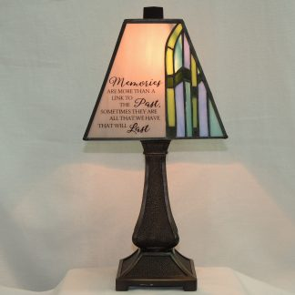 memories stained glass memorial lamp