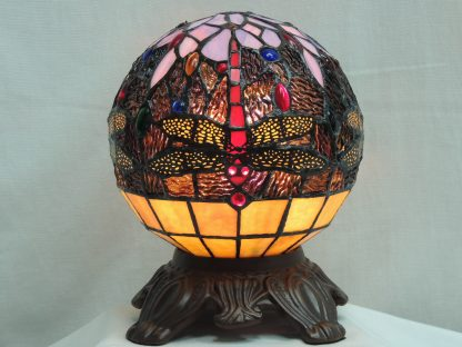 dragonfly globe tiffany style accent lamp