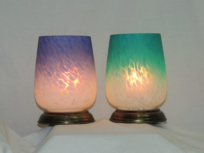ombre blown glass memory lamp