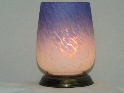 ombre purple white blown glass memory lamp
