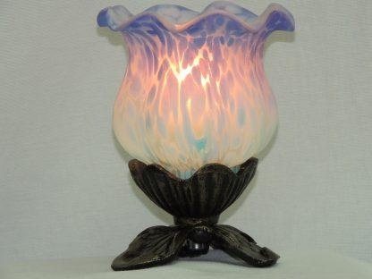 tulip purple blue memory lamp