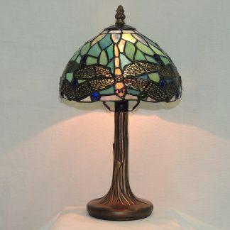 dragonfly tiffany style blue memory lamp