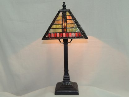 mission horizontal vertical stained glass memory lamp