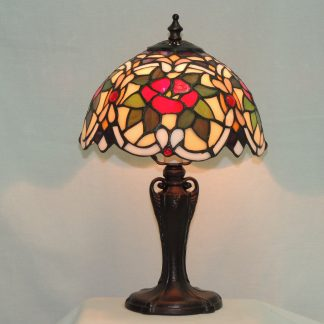 cabernet rose tiffany style lamp
